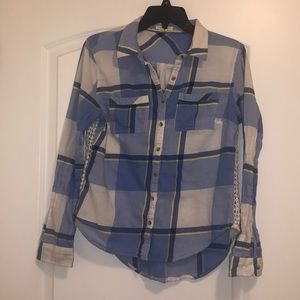 Maurices Button Down Plaid Top